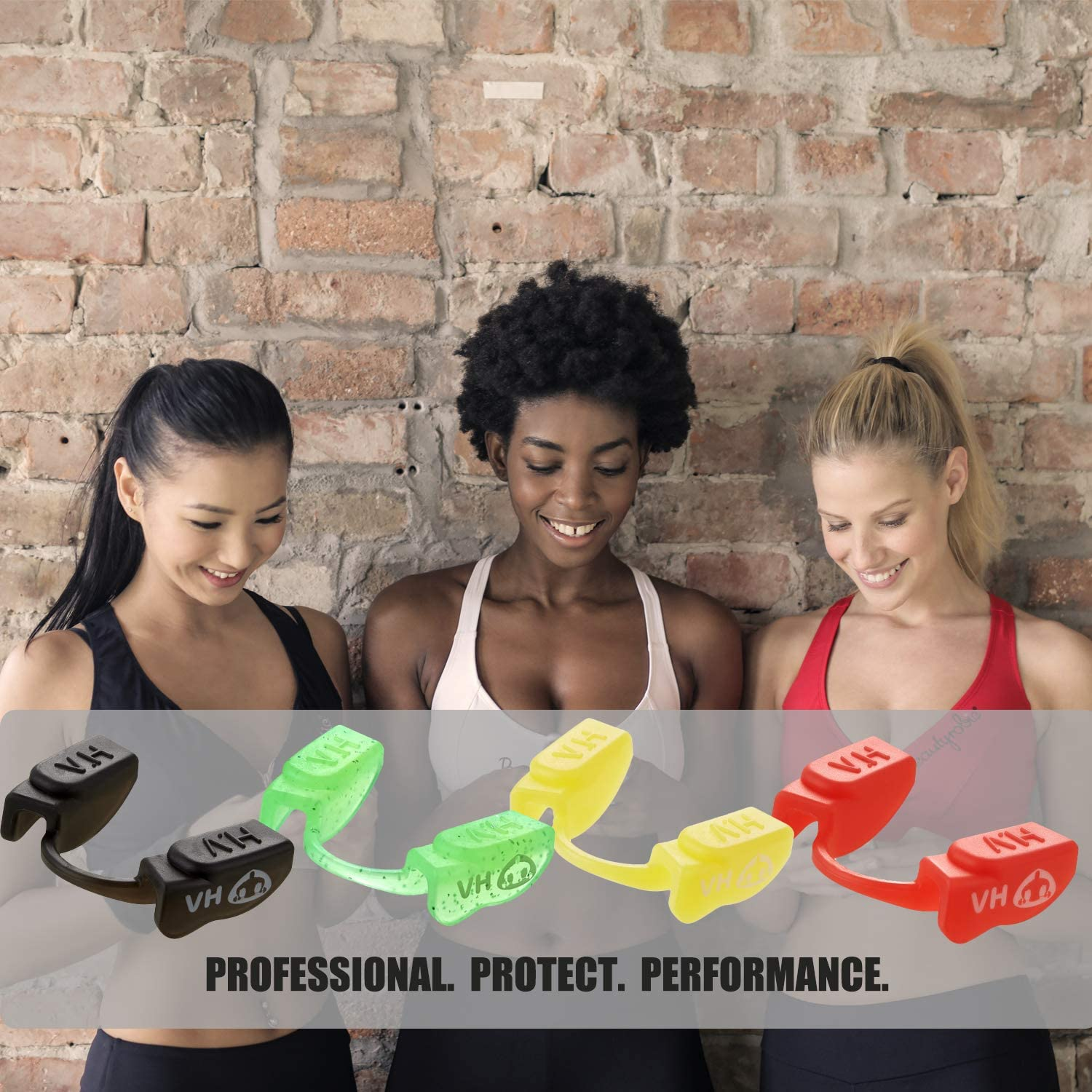 Powerlifting Weightlifting Strength Training Teeth Protective,Low Jaw,No Contract Powerlifting Mouthguards for Women
