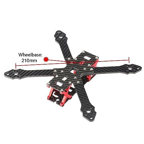 Amazon.com: DLFPV Quadcopter 210 Frame Kit Full Carbon Fiber 4-Axis ...
