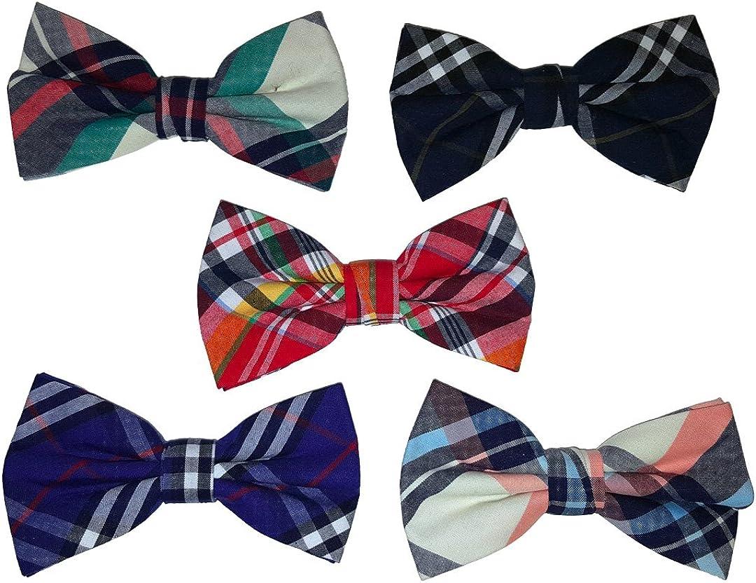 Ravenhill Premium Mens Pre-tied Assorted Pattern Adjustable Neck Tie Bowties 5-pack