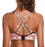 ATTRACO Sports Bra for Women Criss-Cross Yoga Bra