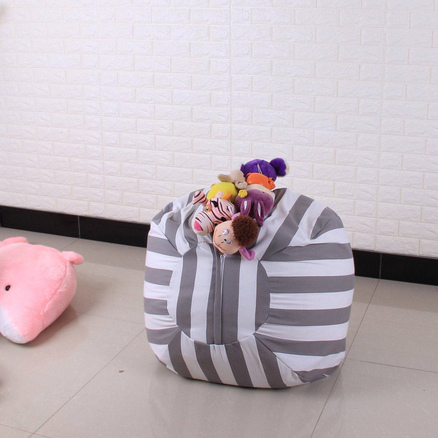 Stuffed Animal Storage Bean Bag - Toy Storage Children's Chair Cover Children Chair - Clean up the Room and Put Those Critters to Work for You! (26'') by Yonfro (Image #7)