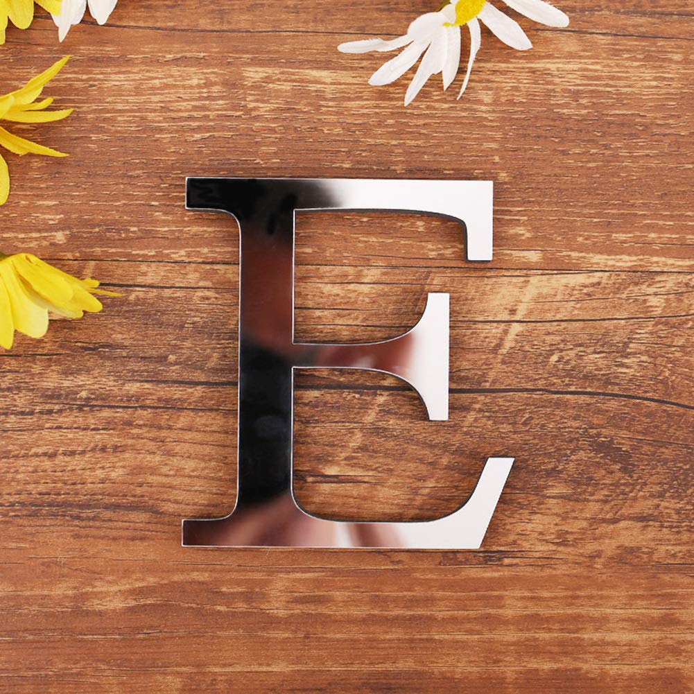 A-Z with /& 26 Letters Decor with Reflecting Mirror D Creative Wall Stickers for Home Decor ❤