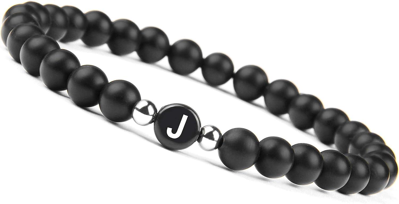 Good.Designs ® Pulsera de Perlas de Pareja con la Letra (Regalo para Parejas) Pulsera de la Amistad para 2