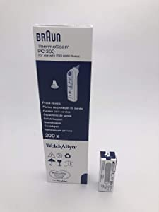 Braun ThermoScan PC 200 Probe Covers for use with Pro 600 Series 200 Count