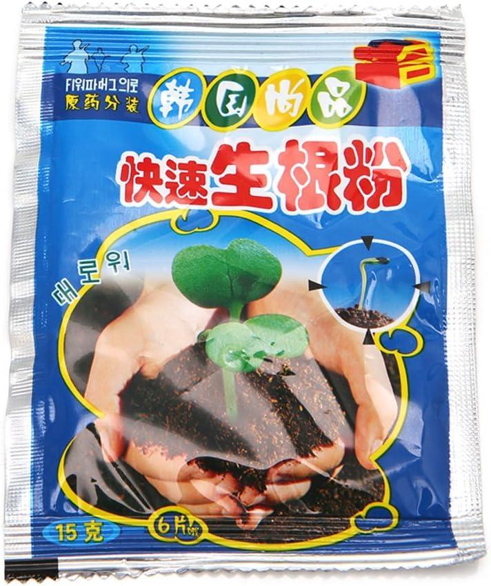 zrshygs Hormone Rooting Powder Root Seed Germinación Ayuda Flor Antera Fertilizante Mejora la tasa de Supervivencia 15 g