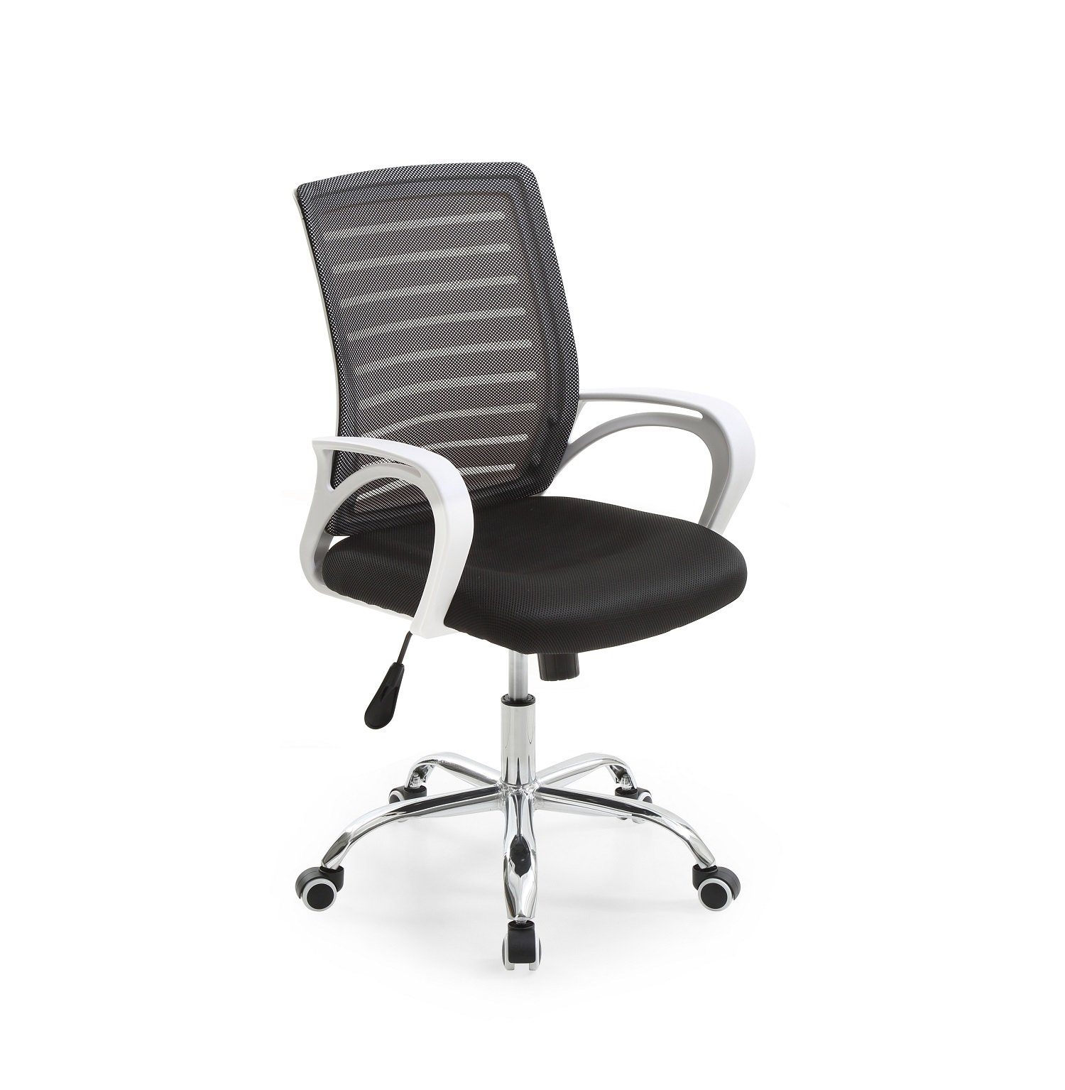 Hodedah Mesh Office Chair with Adjustable Height, Swivel Functionality and Arms, Black