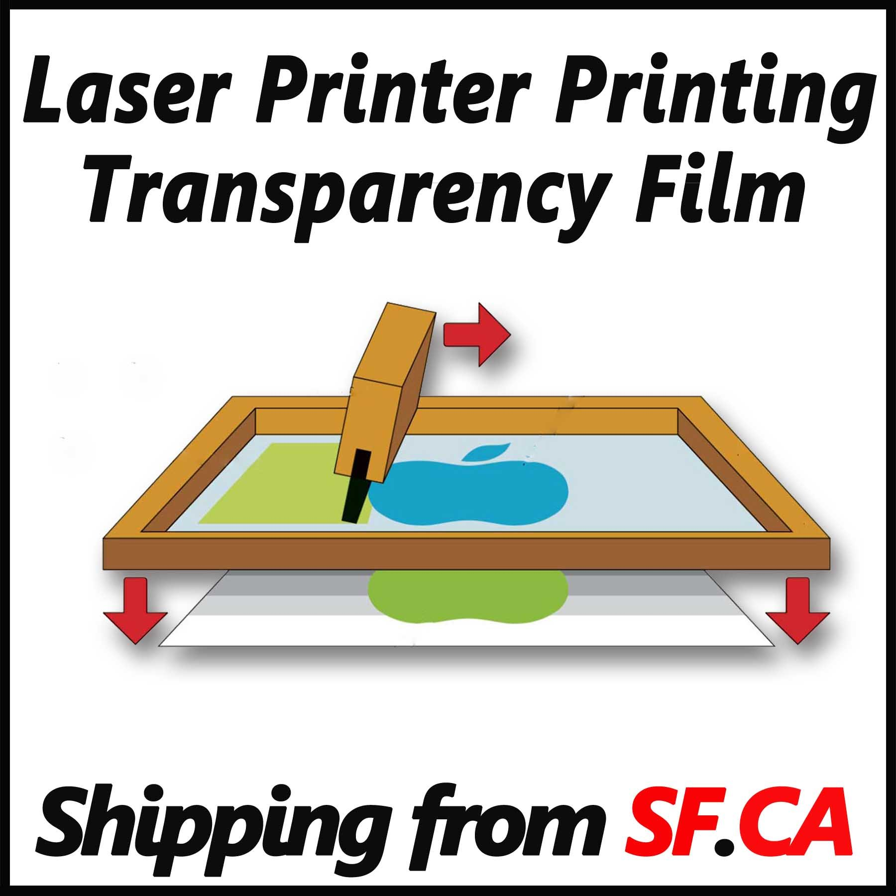 50 Sheets,8.5''x11'',Laser Printer Printing Transparency Film for Silk Screen Printing for Laser HP,Canon,Brother,Oki,EPSON Printers