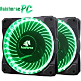 Asiahorse Solar Eclipse MIRAGE 32LED 120mm Cooling PC Compute custom Quiet case fan 2PACK(GREEN)