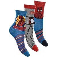 Suncity Pack de 3 pares de calcetines de Spiderman 31/34