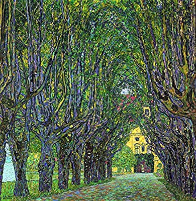 Avenue In Schlob Kammer Park By Gustav Klimt. 100% Hand Painted. Oil On Canvas. Reproduction. (Unframed and Unstretched).