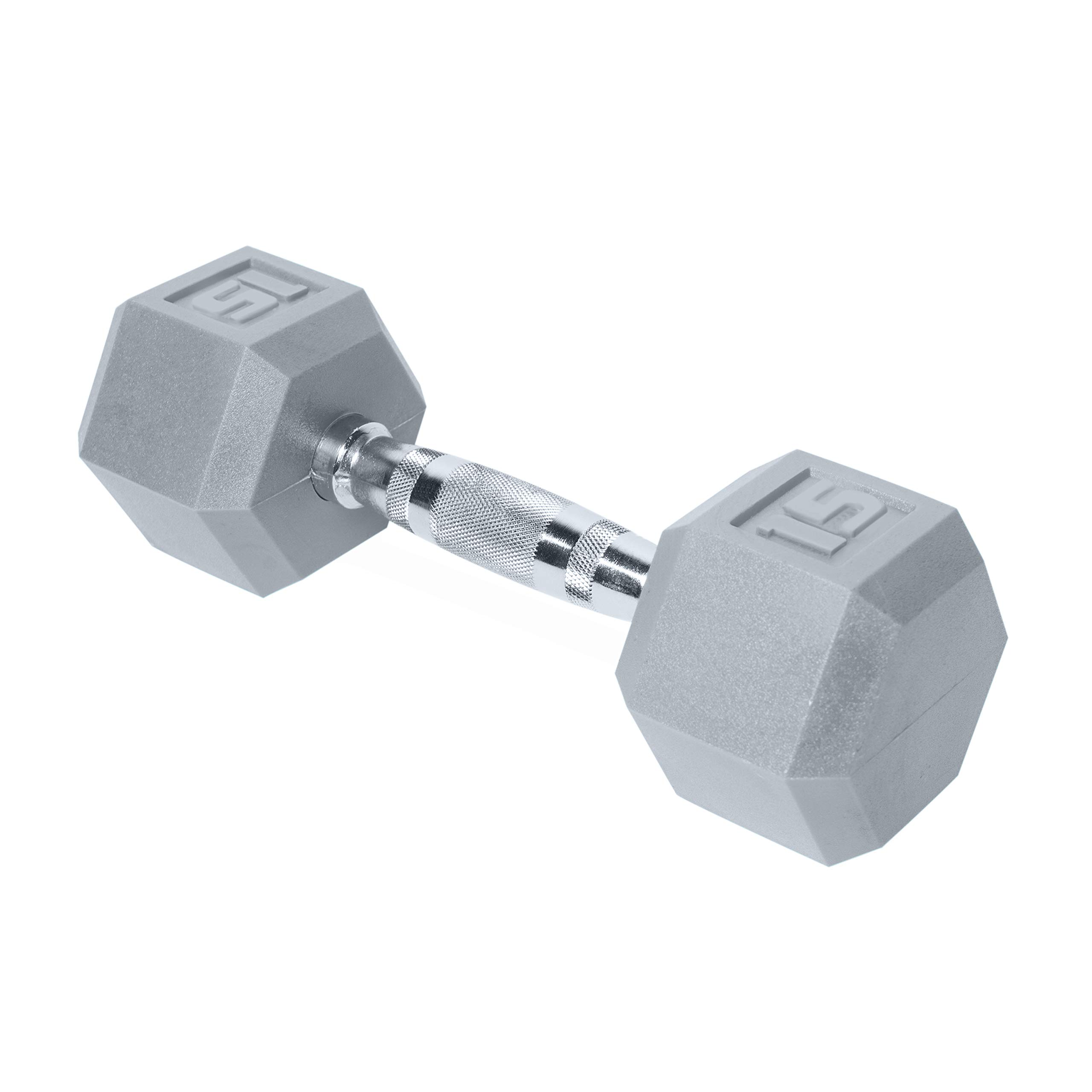 CAP Barbell SDR2-015 Color Coated Hex Dumbbell, Gray, 15 pound