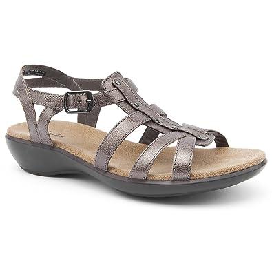 94ef32f4ef25c Clarks Ladies Roza Jaida Silver Flat Sandals Size 6  Amazon.co.uk ...