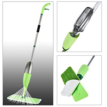 COZYLIFE Magic Spray Mop with Best 360 Degree Easy Wet & Dry Floor Cleaning for Home