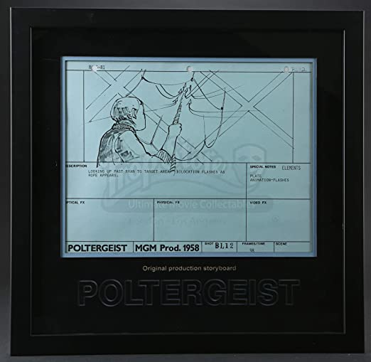 Poltergeist Original Production Storyboard Copy Rope Appears At Amazon S Entertainment Collectibles Store