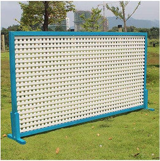 ZHANWEI Valla de jardín De Madera Dividir Pantalla Enredadera Puesto De Flores Bordura de jardín, 3 Colores, 6 Tamaños (Color : Blue, Size : 90x60cm): Amazon.es: Jardín