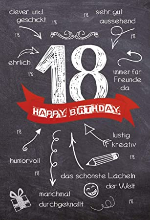 Geschenkballon 18 Geburtstag Happy Birthday Farbe Schwarz Gold