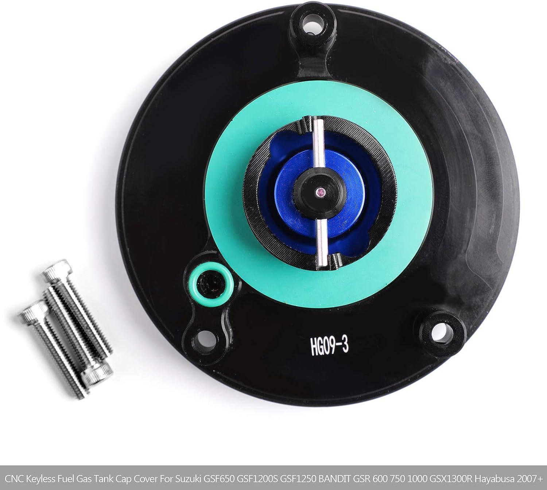 Black Blue CNC Quick Lock Fuel Gas Cap For Suzuki GSX-R 600 750 1000 2004-2007 GSXR600 GSXR750 GSXR1000 CNC Fuel cap 2018 2019 K8 K9 L1 L2 L3 L4 L5 L6 L7 L8 2008-2019