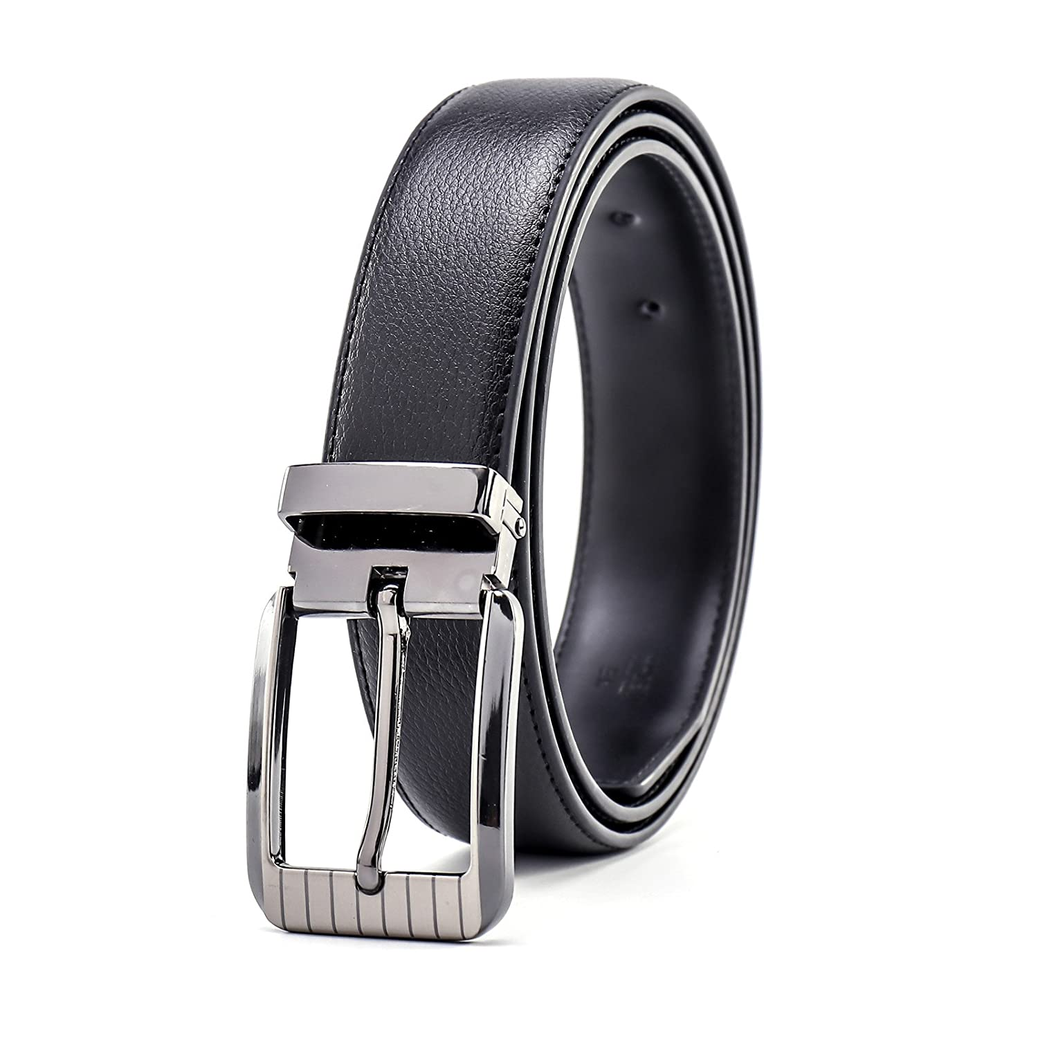 Black Black Black LannyQveen Men's Leather Belts Pin Buckle Belt a1dfff