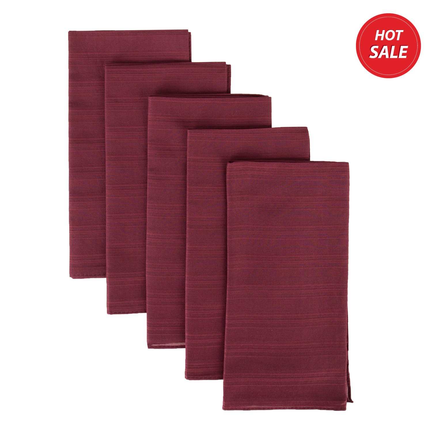 ZESTILK Silk and Cotton Handkerchief (Wine Red) SCH01