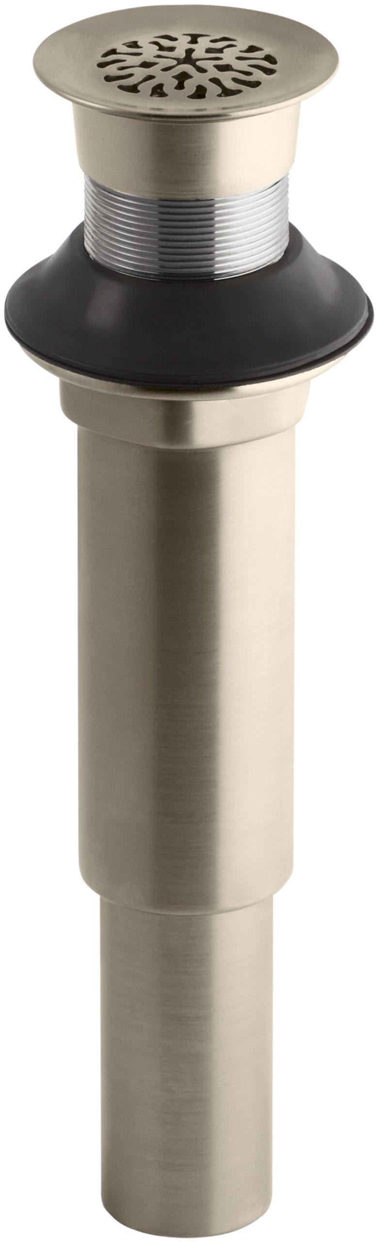 Kohler K-7108-BV Decorative Grid Drain without Overflow, Vibrant Brushed Bronze