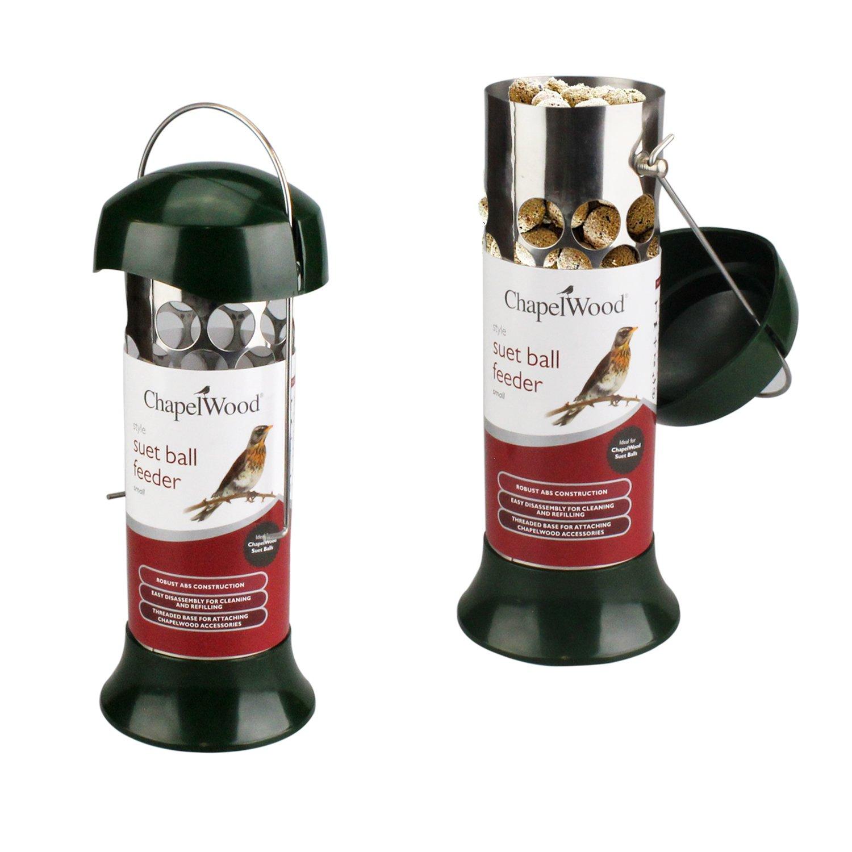 Bird Feeding Station Hanging Feeders Outdoor Garden Food Peanut Seeds Suet Nyjer (HEAVY DUTY SMALL SUET BALL FEEDER) Chapelwood