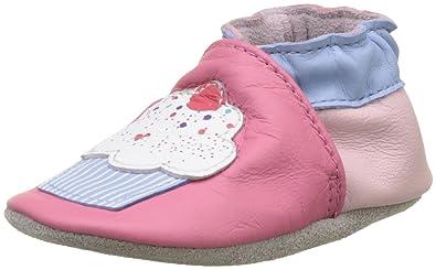 Robeez Unisex Baby Pink Flamingo Krabbelschuhe, Pink (Rose), 19/20 EU