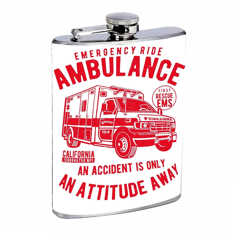 【完売】  sookuデザインステンレススチール8オンスフラスコで個性ギフトまたは印刷個人使用 SDFK-8OZ05 Ambulance Ambulance SDFK-8OZ05 B075FP1137, ワンダフル沖縄:3bbb7c19 --- a0267596.xsph.ru