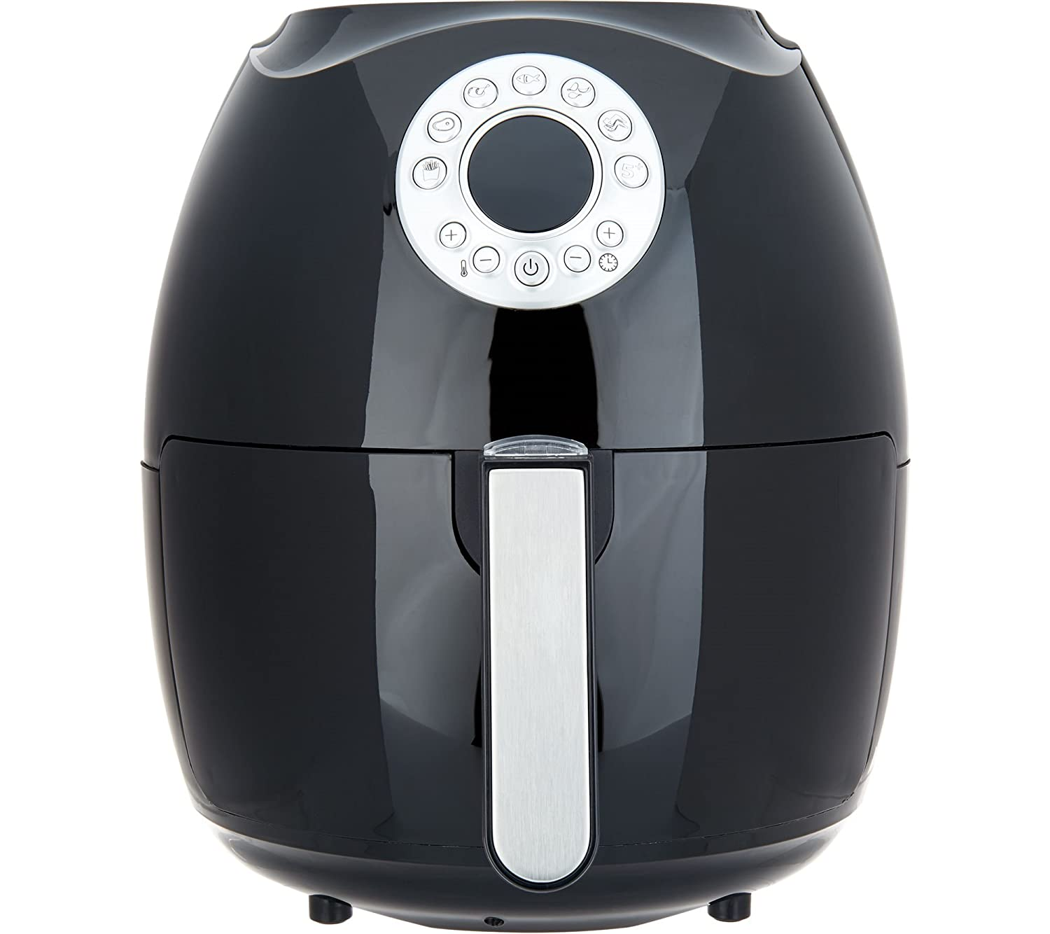 Cook's Essentials 3.4-qt Digital Air Fryer w/ Presets & Pans (Black)