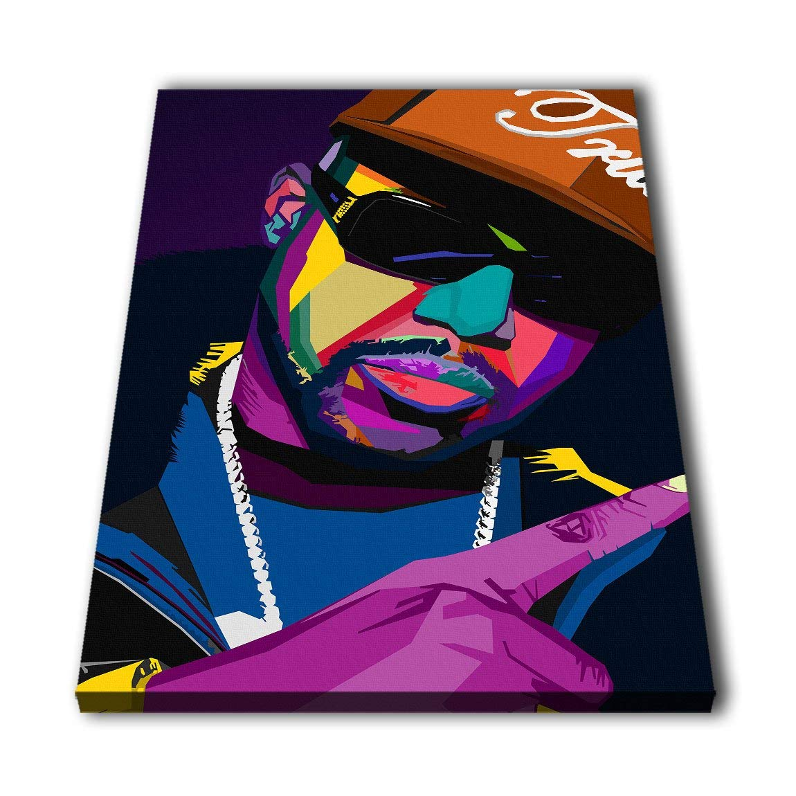 6f45ee2891b4 Susu Art - Pimp C Rapper WPAP Limited V.s Canvas Giclee Print Painting  Picture Wall WPAP Pop Art Home Decor Gifts (with Framed, Size 1: 12x18inch.)
