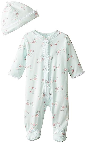 b18cca4f166f Little Me Baby-Girls Newborn Floral Spray Footie and Hat  Amazon.ca ...