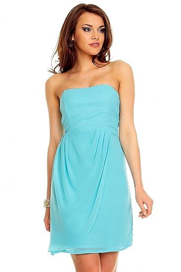 47324c575d18 Mayaadi Bandeau Kleid Chiffon Ballkleid Abendkleid Cocktailkleid Festkleid  Chiffonkleid  Amazon.de  Bekleidung