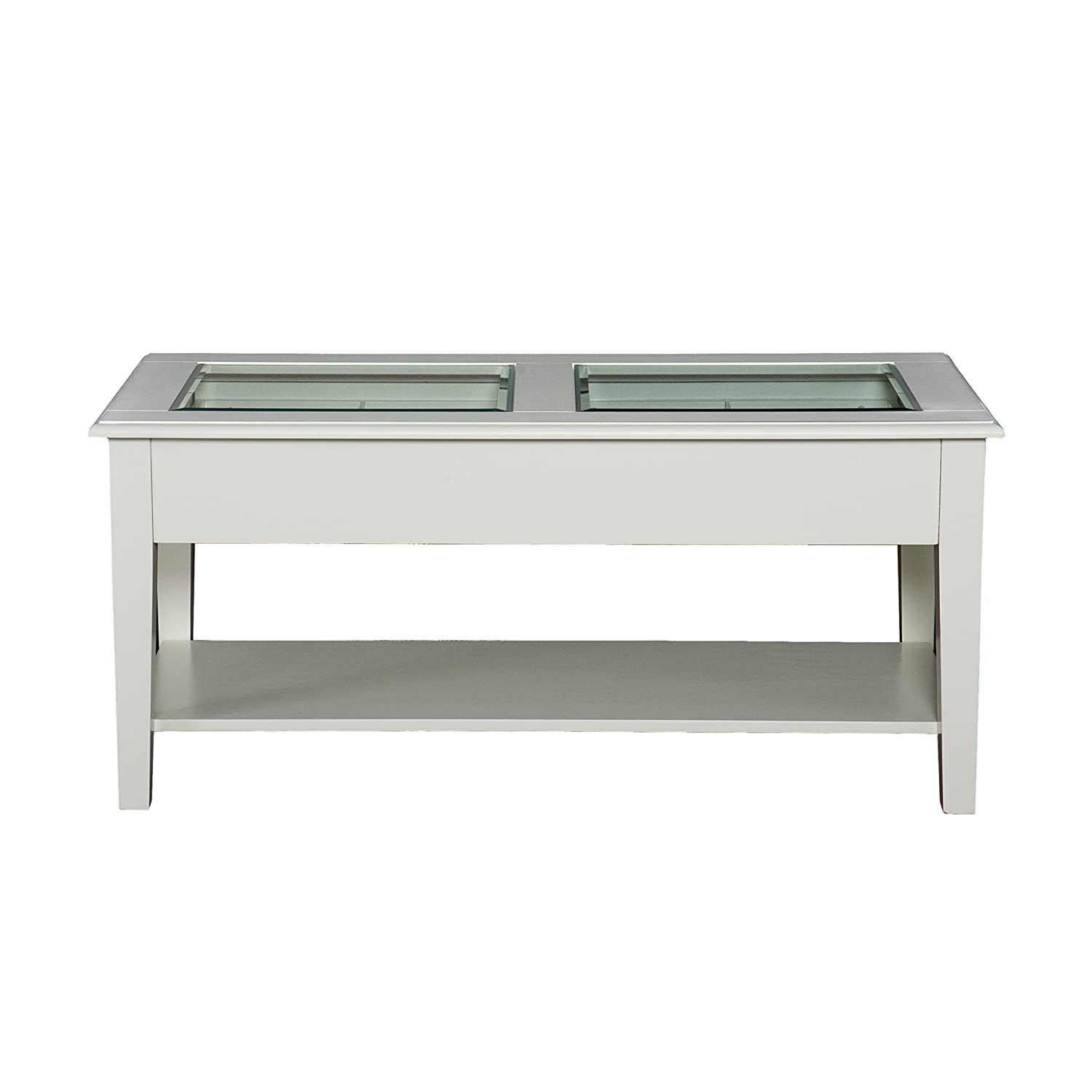 Amazon southern enterprises panorama cocktail table off amazon southern enterprises panorama cocktail table off white finish kitchen dining geotapseo Image collections