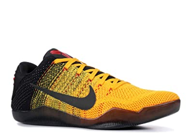 best website 70d41 eb7ea NIKE Kobe XI Low 822675-706 Gold Black Red Men s Basketball Shoes (