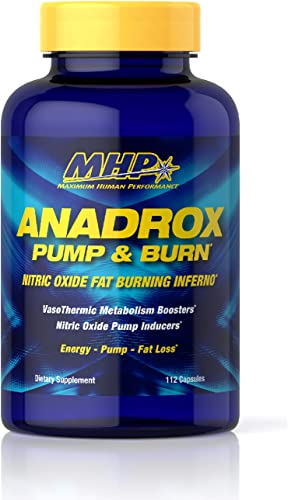 MHP Anadrox Pump Burn, Nitric Oxide Fat Burning Inferno, 112 capsules
