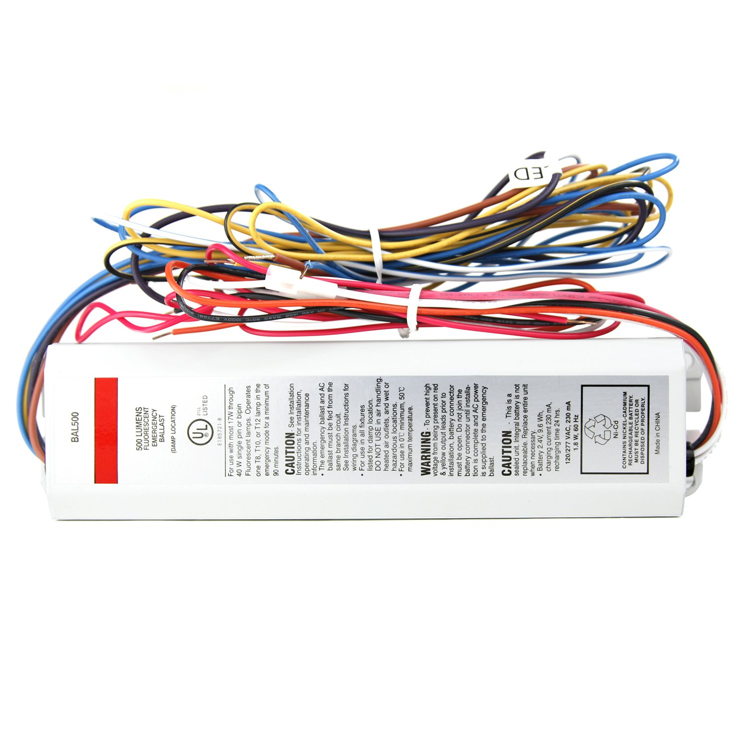Sunlite 40500 Su Bal500 Linear Fluorescent Ballast And Backup Rechargeable Battery Wiring Diagram Multi Volt Cable Ties