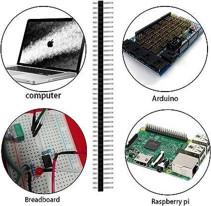 200 Stück 2 54 Mm Stiftleisten 40 Pin Breakaway Pcb Elektronik
