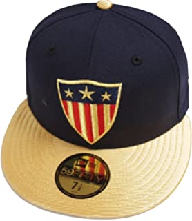 cce2d273 New Era Captain America Navy Gold Marvel DC Cap 59fifty 5950 Fitted Basecap  Kappe Men Special