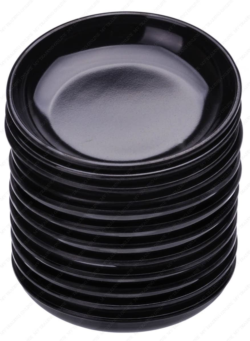 Amazon Com Round Melamine Soy Dipping Sauce Dishes Set Of 12 Dishes 3 1 2 Inches Diameter X 5 8 Inches High 1 5 Ounces Side Dishes