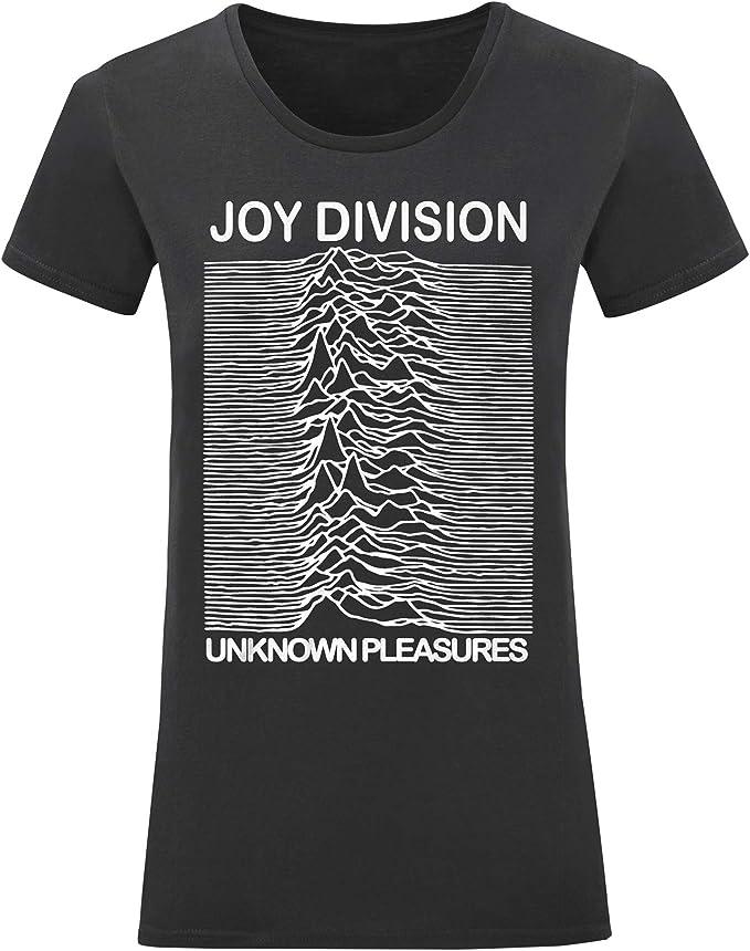LaMAGLIERIA T-Shirt Donna Joy Division Maglietta Rock 100/% Cotone