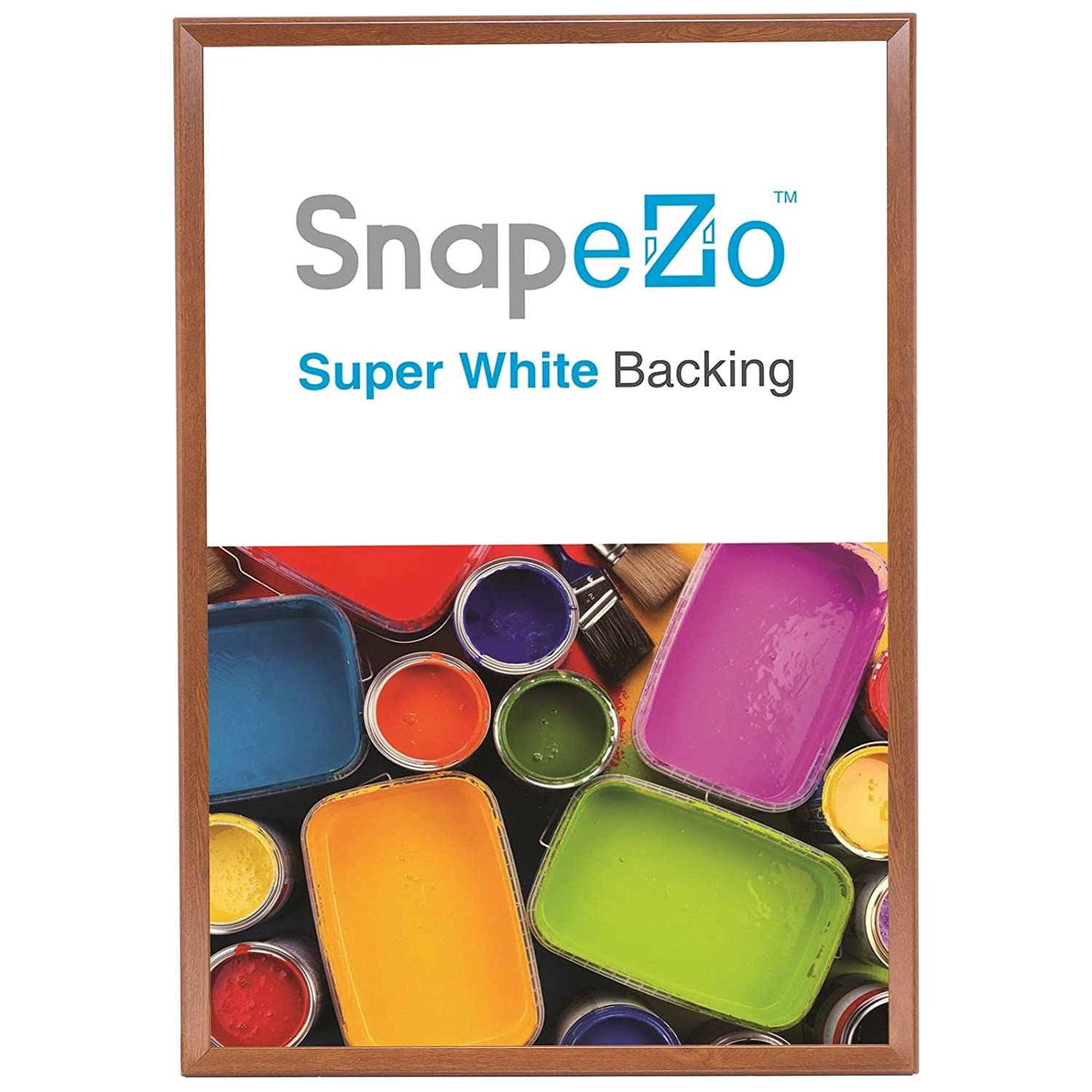 Amazoncom Snapezo Poster Frame 36x48 Inches Dark Wood Effect