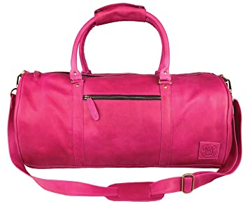 3dc4c71224c0 Image Unavailable. Image not available for. Colour  Leather Duffle Bag ...