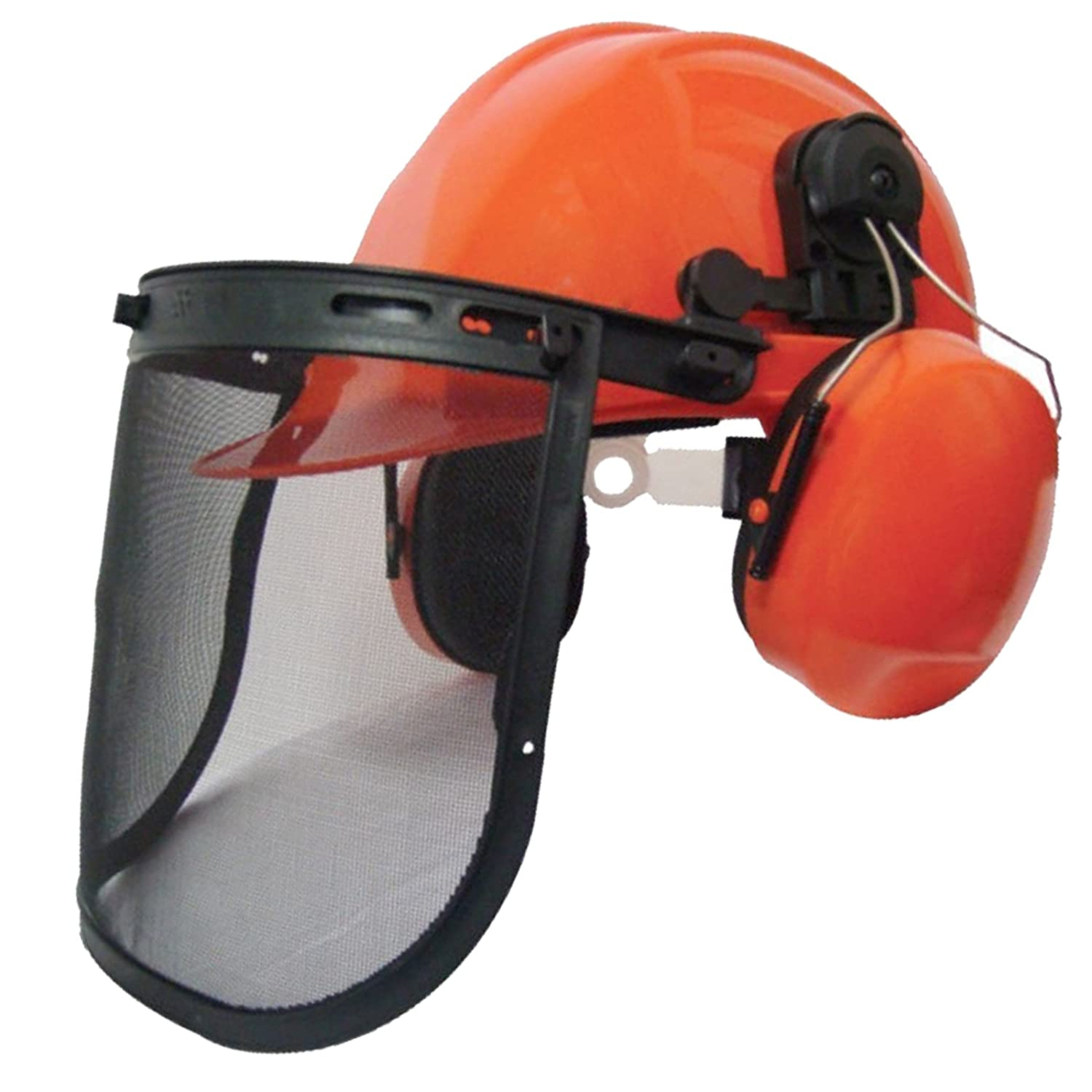 SPARES2GO Chainsaw Safety Helmet with Mesh Visor and Ear Muffs