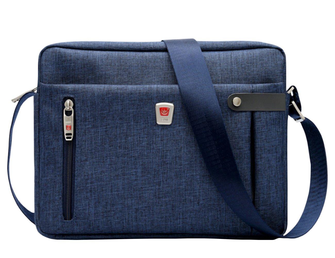 Small Crossbody Bag Tactical Ipad Messenger Bag 11 Inch Tablet Shoulder Bag (Black)