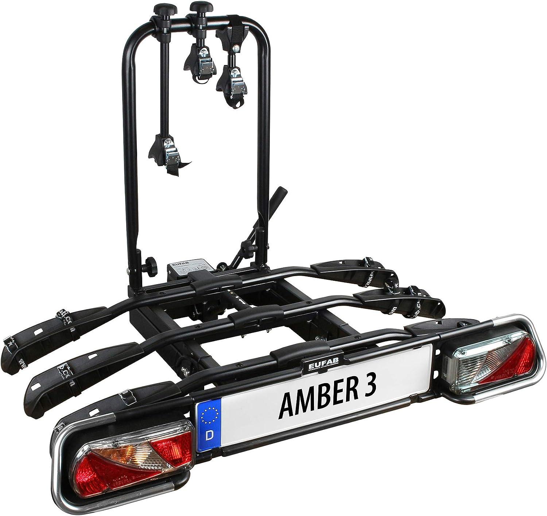 Eufab 11555 Fahrradträger Amber 3 E Bike Geeignet Schwarz Ca 102 X 74 X 72 Cm Auto