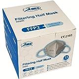 JINLU - Máscara protectora FFP2/KN95 certificada CE, filtración del 94% (paquete de 10 unidades)