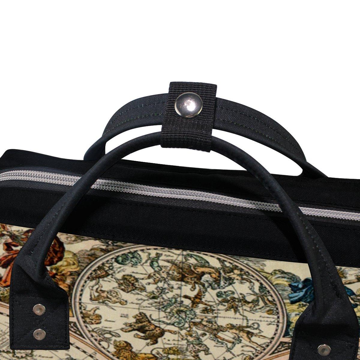 COOSUN Vintage Mapa Mochila bolsa de pa/ñales de gran capacidad Muti-funci/ón del recorrido del morral Grande multicolor