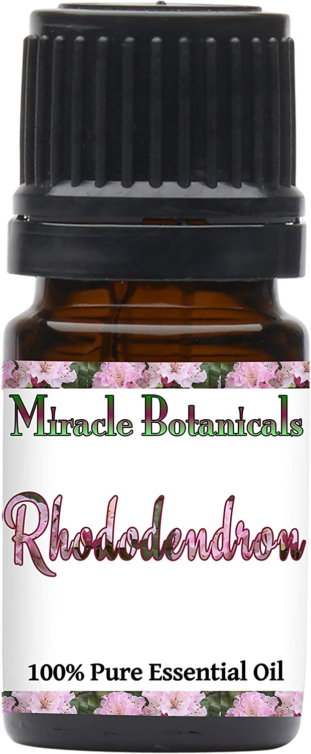 Miracle Botanicals Rhododendron Essential Oil - 100% Pure Rhododendron Anthopogon - Therapeutic Grade - (5ML)