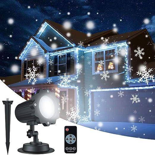 Amazon.com: ALOVECO Lámpara de proyector de copo de nieve de ...