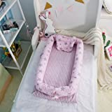 MisDress Baby Bassinet for Bed - Portable Baby