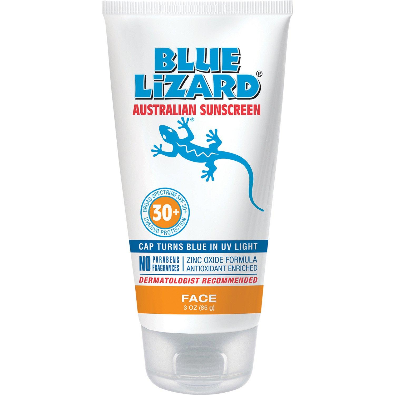 Blue Lizard Australian Sunscreen - Face Sunscreen SPF 30+ Broad Spectrum UVA/UVB Protection - 3 oz Tube